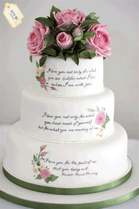 Wedding Cake Quotes by Literary Themed Wedding Cake Handpainted With The Couples