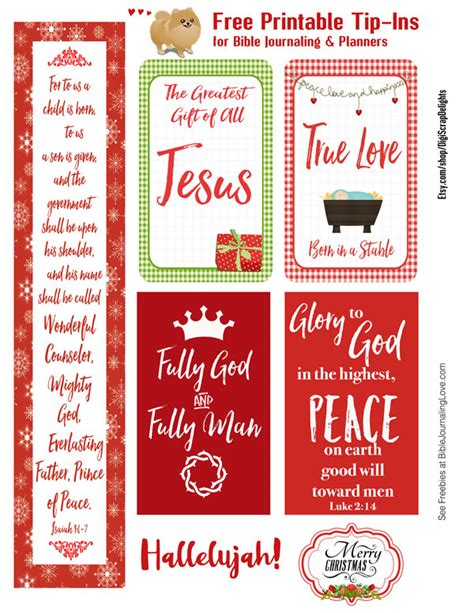 free printable holiday journal free christmas tip ins for bible journaling planners