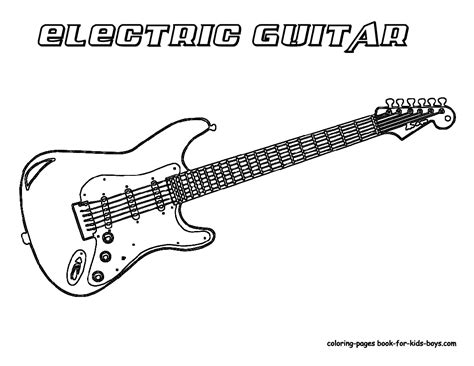 guitar templates uk electric guitar coloring pages band instruments