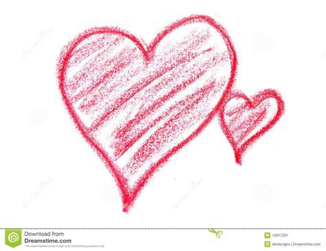 crayon hearts crayon hearts stock image image 12817261