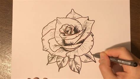 how to tattoo a rose how to draw a design