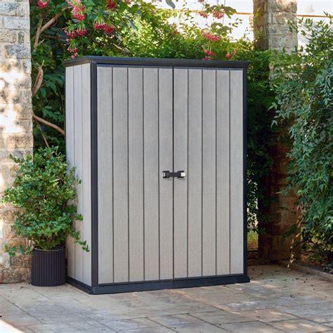 armoire de armoire de jardin r 233 sine keter brossium l139 5 h181 5 cm gris plantes et jardins