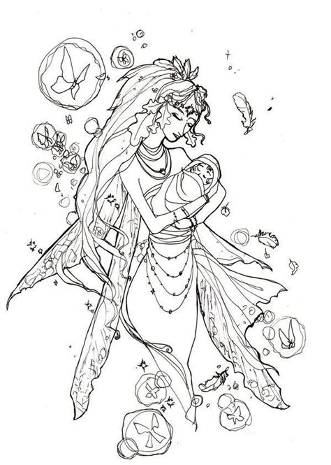 fairy coloring page for adults coloring home