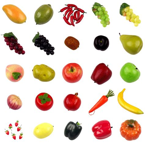 2 fruits and 5 vegetables mix and match 3 5 or 10 fruits top quality artificial