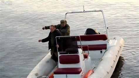 blow up boat gif grenade fishing gone wrong russia youtube