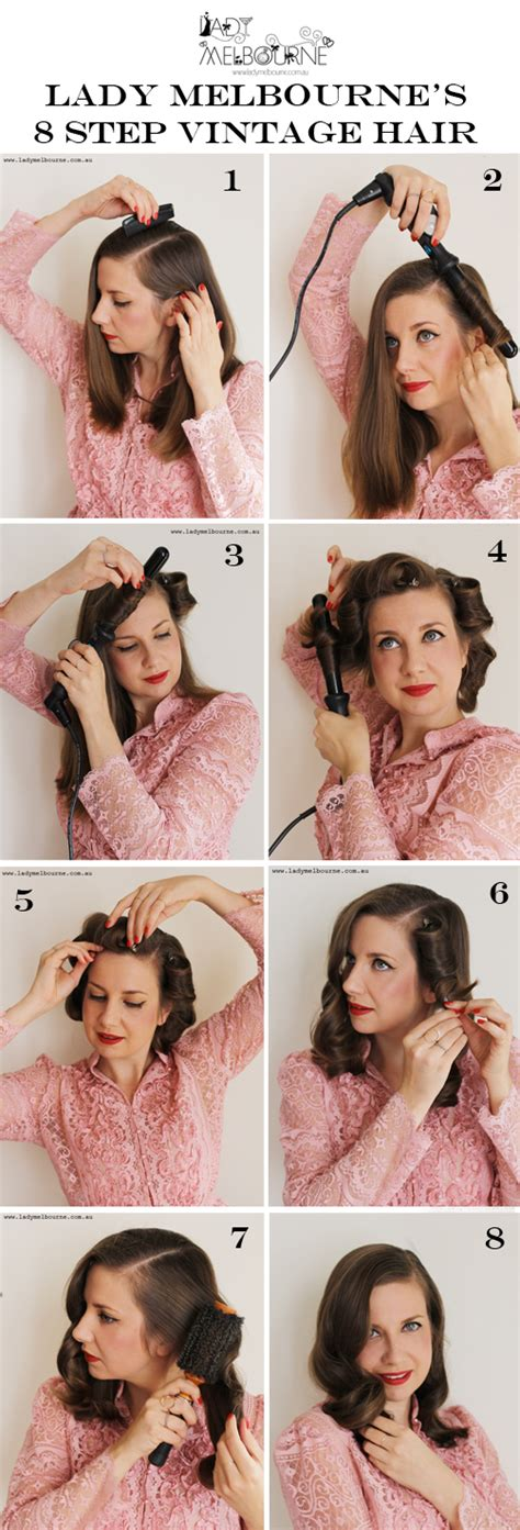 step by step vintage hairstyles today s face how to create a simple vintage hairstylelady