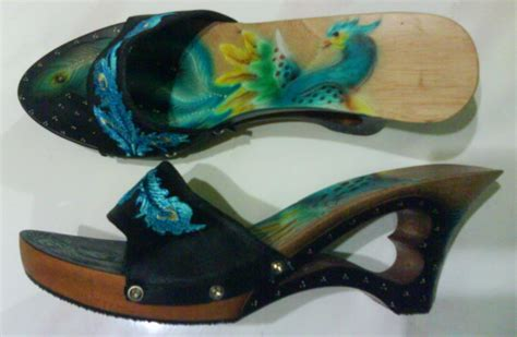Sandal Kelom Modern Modis Dan Cantik Nyaman Dan Tidak Licin Model ikm kota tasikmalaya kelom geulis sandal kayu cantik