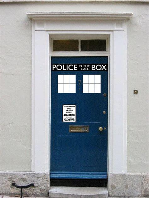 Tardis Door Cling by Box Door Decal Vinyl Sticker Its Bigger On The Inside