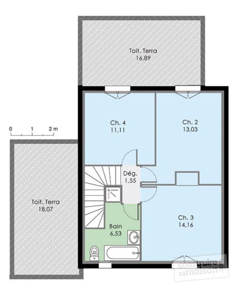 Maison Bois De Plain Pied Avec 233 Tage Am 233 Nageable Nos plan maison avec suite parentale plan maison plain pied