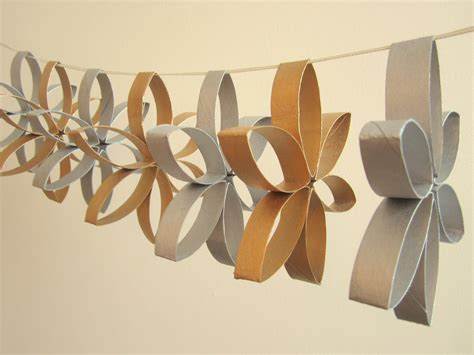 Craft Ideas For Toilet Paper Rolls - toilet roll garland crafty weekend craft