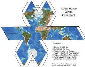 How To Make A Paper Map - diy icosahedron globe motif maps globes