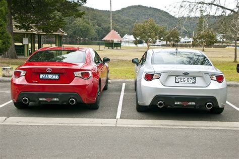 subaru toyota toyota 86 vs subaru brz comparison review photos caradvice