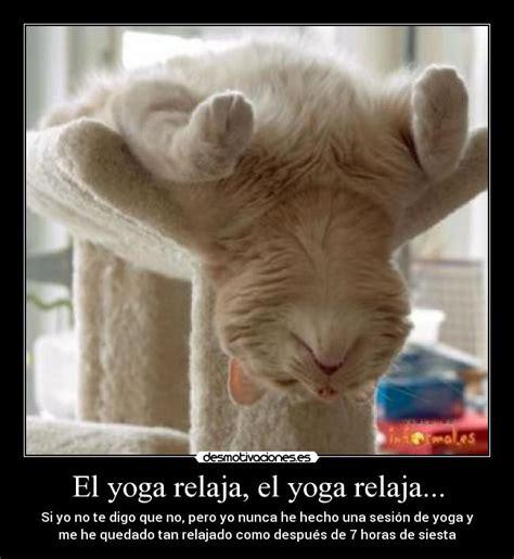 imagenes yoga graciosas el yoga relaja el yoga relaja desmotivaciones