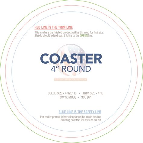 coaster size template custom paper coasters america s print center
