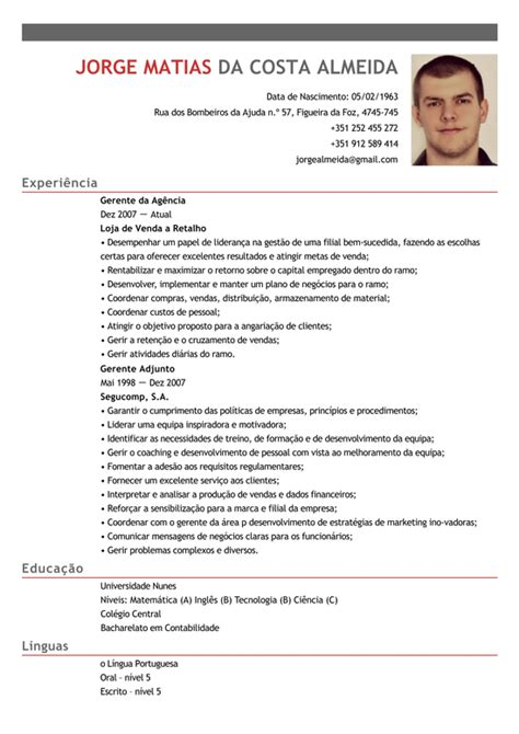Modelo Curriculum Vitae Gerente Modelo De Curriculum Gerente De Sucursal Exemplo De Cv Gerente Da Ag 234 Ncia Banc 225 Ria Livecareer