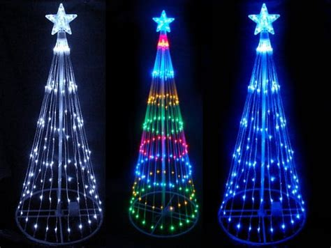 outdoor cone christmas trees with led lights