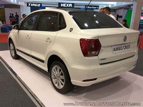 volkswagen ameo white vw ameo crest rear three quarters at autocar performance