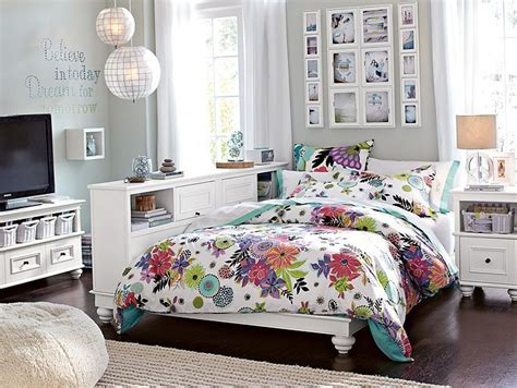 pb teen beds pbteen chelsea tropical garden bedroom on pbteen com