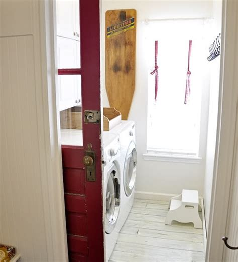 diy pocket sliding door for laundry room for the home