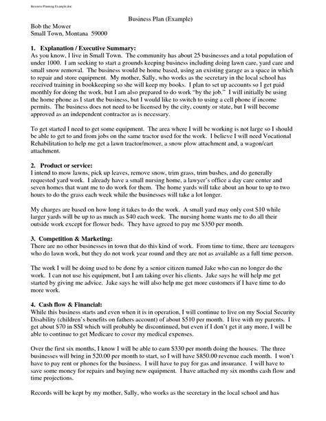 small business business plan template 26 best informal proposal