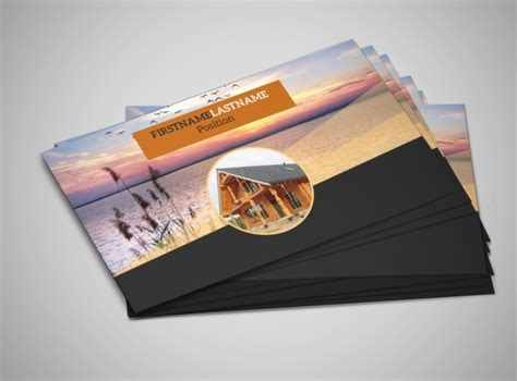 resort business card template lake front resort business card template mycreativeshop