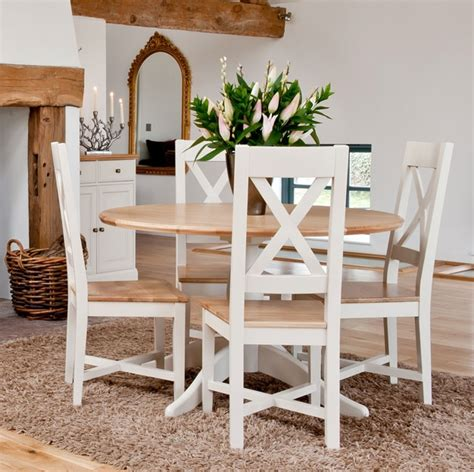 Painted Oak Dining Table And Chairs Ellis Painted Furniture Oak Pedestal Dining Table 4 Chairs Set Ebay
