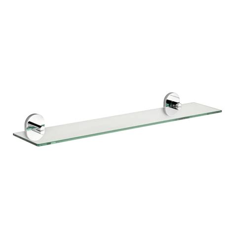 Chrome And Glass Bathroom Shelves Croydex Pendle 5 28 In L X 2 12 In H X 24 30 In W Wall Mounted Opaque Glass Bathroom Shelf