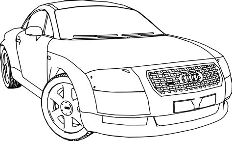 how to turn a picture into a coloring page in word audi tt car turn coloring page wecoloringpage