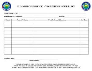 template for volunteer hours 7 best images of printable hours log volunteer hours log