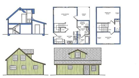 House Plan With Loft by Small House Plans With Loft Small Cabin Plan With Loft