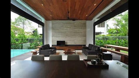 stylish bungalow inspired residence  singapore sunset