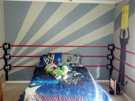 wwe kids bedroom wwe room ring and traced silhouettes of our 7 year old