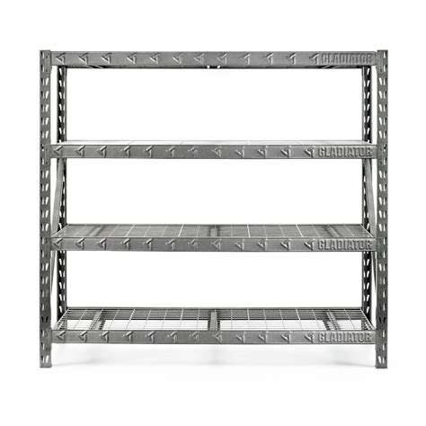 shop gladiator 72 in h x 77 in w x 24 in d 4 tier steel