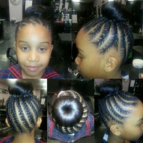 little kids hair braided into a bun cute kids cornrows into a bun braids n twists
