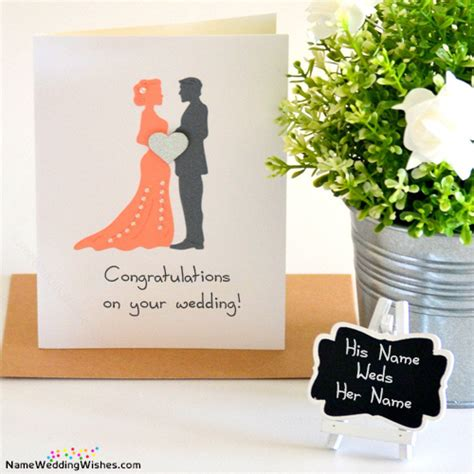 Wedding Card With Name by Congratulations On Your Wedding Cards With Name
