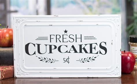 Metal Fresh Cupcakes Sign   Vintage Signs