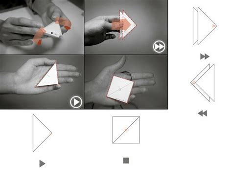 Origami Play - origami like play mp3 player concept makes tunes not cranes