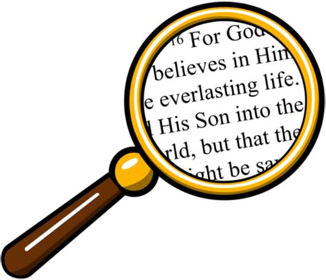 Looking For Free Search Image Magnifying Glass Bible Bible Clip Christart