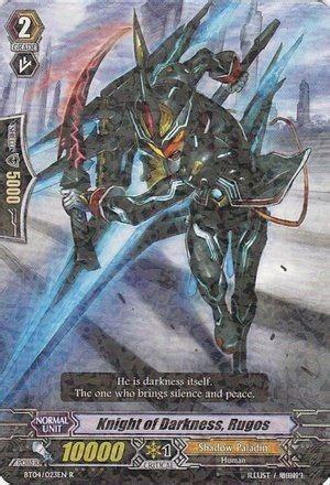 Cardfight Vanguard Pr0455 Shadow Palladin darkness and on