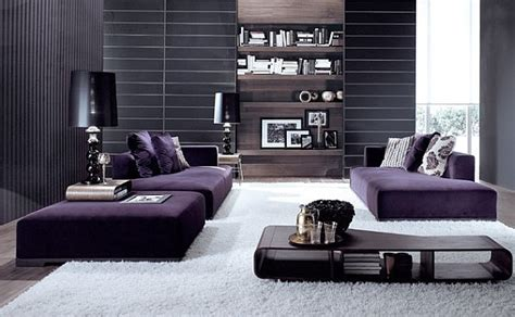 plum and gray living room how to decorate with purple in dynamic ways