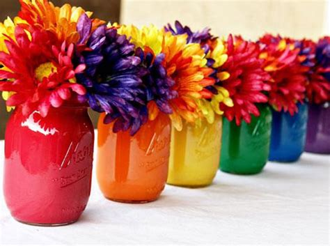centerpieces craft painted jar centerpiece diy craft tutorial
