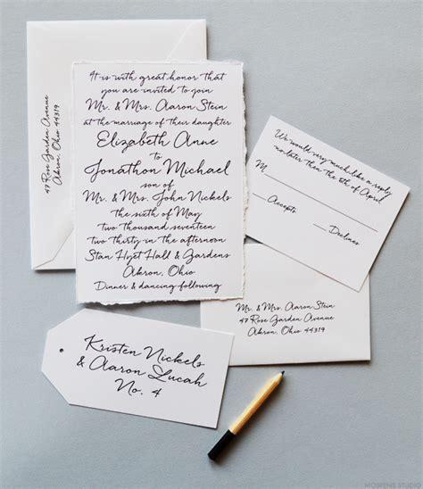 Handwritten Letter Wedding Invitation Handwritten Wedding Invitations Mospens Studio