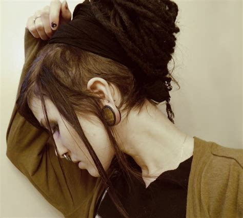 Pictures Of Hair With Shaved From Ear Down And In Back | shaved side dreads septum dreads pinterest beautiful