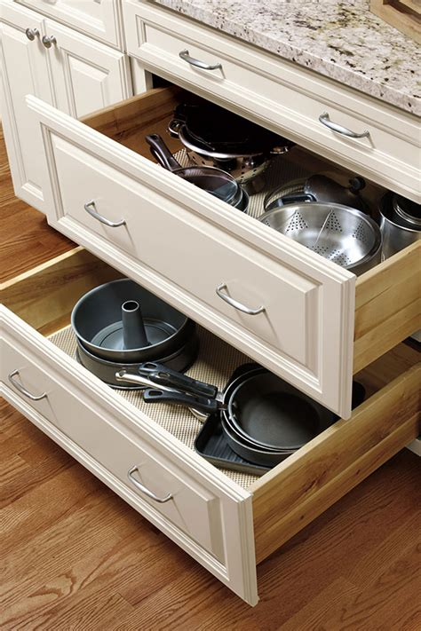 Kitchen Drawer Storage Ideas three drawer base cabinet aristokraft cabinetry