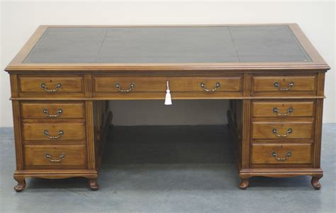 large desk antique large mahogany partners desk 1019 for sale