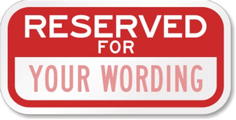 reserved parking signs template parking space signs