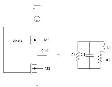 figure 1 active inductor with small signal equivalent circuit 1 ghz cmos band pass filter