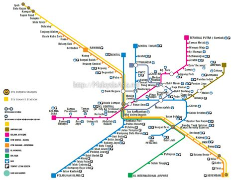 Ktm Malaysia Map Ktmb Route Map