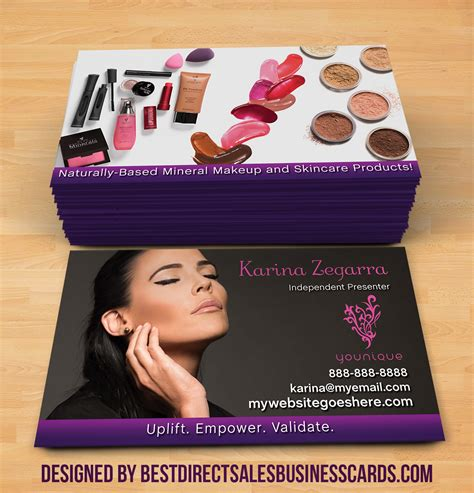 younique business card template business cards for younique gallery card design and card