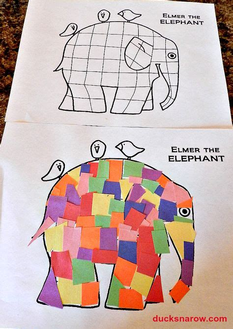 Elmer Patchwork Elephant - story and activities on pete the cats three